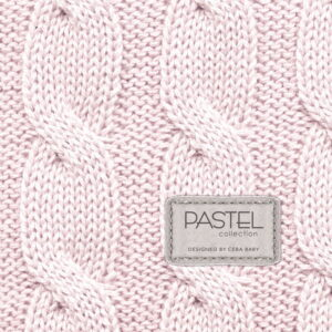 Ceba baby αλλαξιέρα σκληρή PASTEL COLLECTION CABLE STITCH PINK 50×80