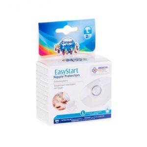 Canpol babies Προστατευτικό Θηλών Σιλικόνης σε Θήκη EasyStart , 2 ΤΜΧ Large(Standard)