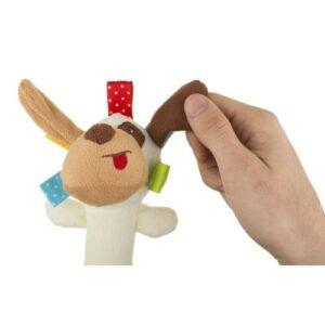 Akuku Plush παιχνίδι με κουδουνίστρα και ήχο όταν το πιέσεις , σκύλος-Reksio