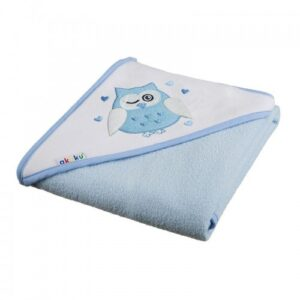 Akuku Βρεφική πετσέτα με κουκούλα – BLUE 100×100 cm