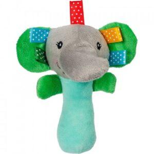 Akuku Plush παιχνίδι με κουδουνίστρα και ήχο όταν το πιέσεις , ελέφαντας- Ela