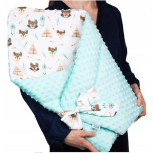 Κουβερτάκι αγκαλιάς – Υπνόσακος INDIANS (MINKEY)