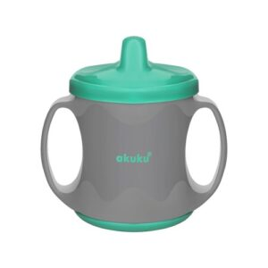 Akuku Κύπελλο με λαβές και στόμιο στο καπάκι 200 ml – ΠΡΑΣΙΝΟ