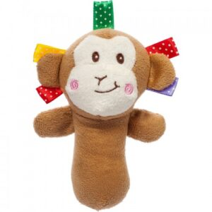 Akuku Plush παιχνίδι με κουδουνίστρα και ήχο όταν το πιέσεις , μαιμού- monkey Kiko