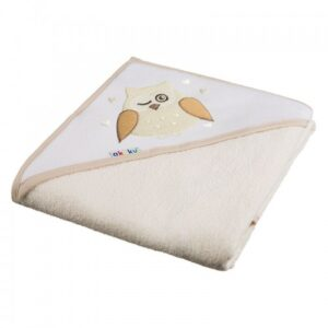 Akuku Βρεφική πετσέτα με κουκούλα – ECRU 100×100 cm
