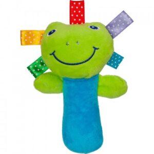 Akuku Plush παιχνίδι με κουδουνίστρα και ήχο όταν το πιέσεις , βάτραχος – frog Monica