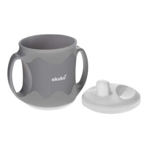 Akuku Κύπελλο με λαβές και στόμιο στο καπάκι 200 ml – ΛΕΥΚΟ