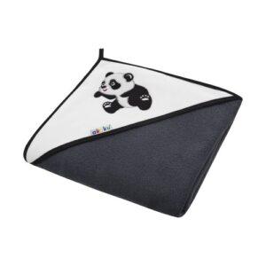 Akuku Βρεφική πετσέτα με κουκούλα – Panda 100×100 cm