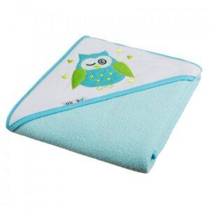 Akuku Βρεφική πετσέτα με κουκούλα – TURQUOISE 100×100 cm
