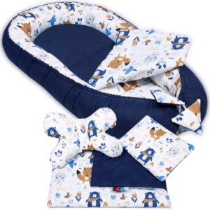 Palulli Φωλίτσα ύπνου μωρού σετ 5 σε 1 – AZTEC NAVY