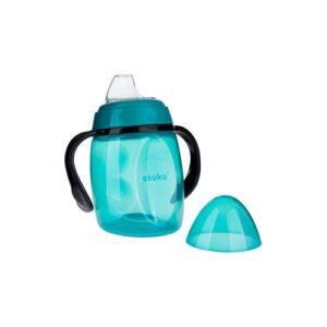 Akuku Κύπελλο με λαβές και μαλακό ρύγχος σιλικόνης που δεν στάζει 280 ml – BLUE