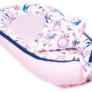 Palulli Φωλίτσα ύπνου μωρού σετ 5 σε 1 MINKY – DREAM CATCHER PINK