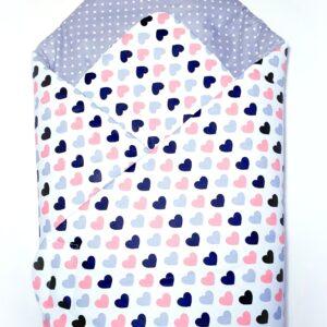 Κουβερτάκι αγκαλιάς – Υπνόσακος HEARTS