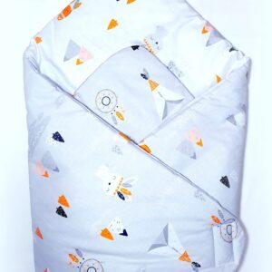 Κουβερτάκι αγκαλιάς – Υπνόσακος INDIANS GRAY