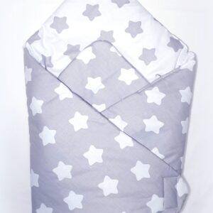 Κουβερτάκι αγκαλιάς – Υπνόσακος GRAY STARS1