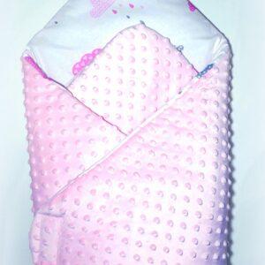 Κουβερτάκι αγκαλιάς – Υπνόσακος CLOUD PINK (MINKY)