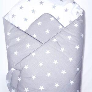 Κουβερτάκι αγκαλιάς – Υπνόσακος STARS GRAY2