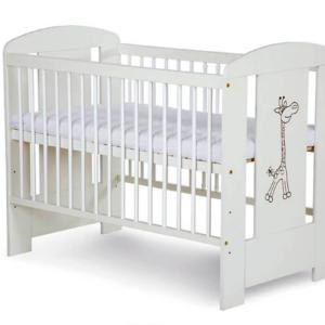 Βρεφικό Κρεβάτι KLUPŚ SAFARI ŻYRAFKA Λευκό 120X60