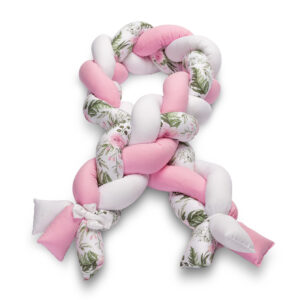 Πάντα Κούνιας Πλεξούδα 20x210cm  Sensillo – flowers pink
