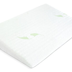 Sensillo Μαξιλάρι Παλινδρόμησης για Κούνια με Αφαιρούμενο Κάλυμμα – Luxe Aloe Vera 38×60cm