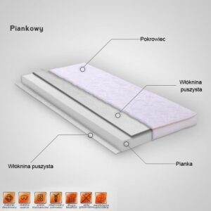 """Βρεφικό Στρώμα Κούνιας Διπλής Όψης Αφρού """"TAPI – WPW-03"""" 120×60"""