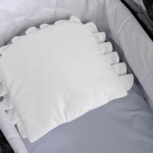 Sensillo Βελούδινο Μαξιλάρι Καροτσιού (Λευκό)