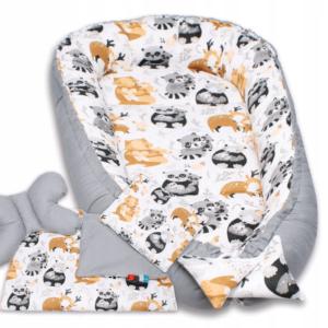 Palulli Φωλίτσα ύπνου μωρού σετ 5 σε 1 – PANDA N' RACOON