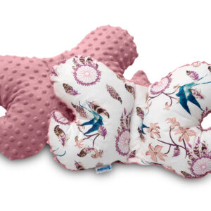 Sensillo Μαξιλάρι Στήριξης για τον Αυχένα & το Κεφάλι του Μωρού – Ονειροπαγίδα Ροζ